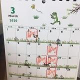 3月の定休日のご案内です。